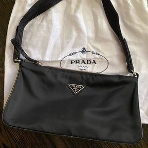 Prada Tessuto shoulder bag, nylon w/ leather trim